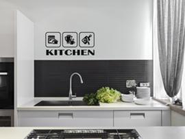 Muursticker : Kitchen Symbols