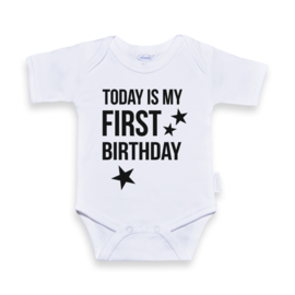 Romper today is my first birthday