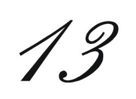 Sticker Huisnummer 2 cijfers