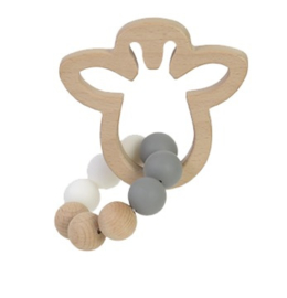 Bambam Bamboo giraffe teether bijtring