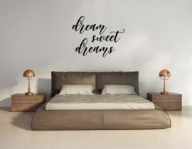 Muursticker - Dream sweet dreams