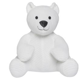 Baby's only rib knuffelbeer wit met naam