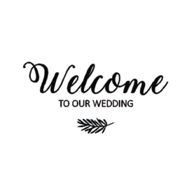 Sticker 'Welcome to our wedding'