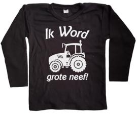 Shirt Ik word grote neef met tractor