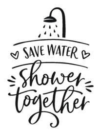 muursticker save water