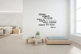 Sticker Draw near to God
