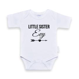 Romper Little sister met naam naar wens