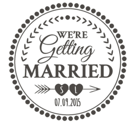 Sticker 'We're getting married'