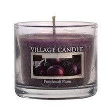 Village Candle Patchouli Plum glass votive