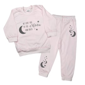 Pyjama 'We love you to the moon and back'