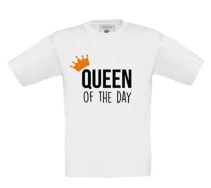 Shirt 'Queen of the day'