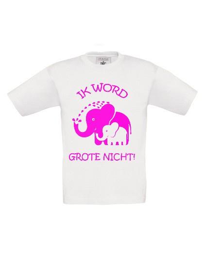 Shirt - Olifantjes Ik word grote nicht