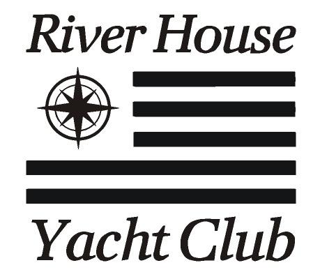 Sticker River house yacht club stripe