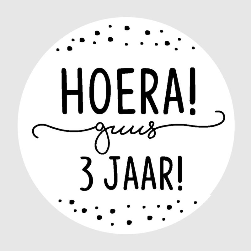 Velletje Traktatie stickers - Hoera ... jaar!