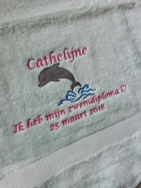 Handdoek Dolfijn zwemdiploma