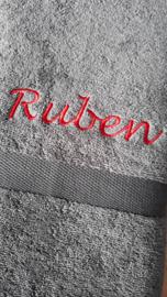 Dikke Handdoek met naam borduren 70x140