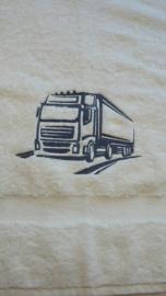 Handdoek Truck silhouet