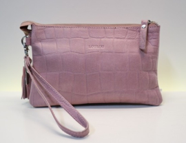 SLB by LouLou Vintage Croco (04POUCH04S) - rose