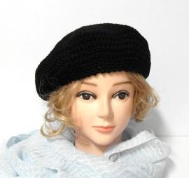 Damesbaret Eva 15 - zwart