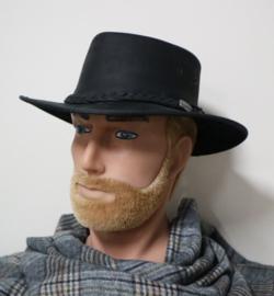 Barmah leren hoed Brumby art. 1037 - zwart