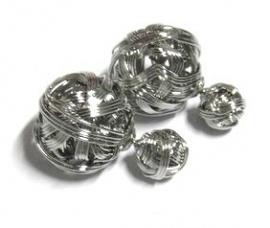 Oorbel Duo Dots knot art. 9863 - zilverkleur