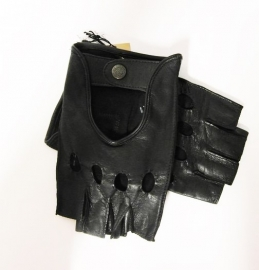 Laimböck Las Vegas dames autohandschoen met halve vingers - zwart