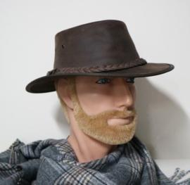Barmah leren hoed Brumby art. 1037 - bruin