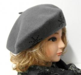 JJM luxe damesbaret art. 031/1C - grijs