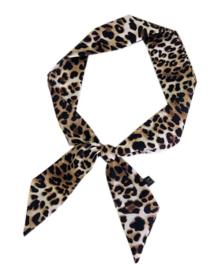Smal shawltje Leopard - beige/bruin/zwart