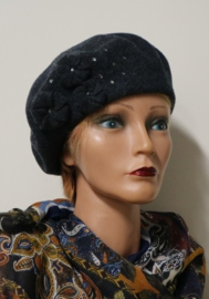 Headwear damesbaret art. BAC916T - antraciet
