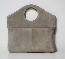 Charm hand- en schoudertas art. 16953 - grijs/beige