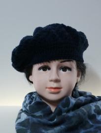 Kinderbaret Esmee - donkerblauw
