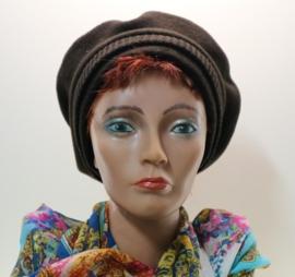 Damesbaret Feliro - donkerbruin