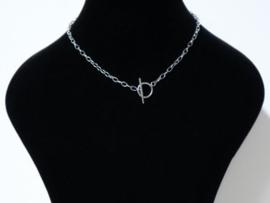 Halsketting  art. 12002 -zilverkleur