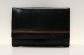 d'Exclusive damesportemonnee  art. 01EM319 - zwart/bruin