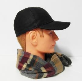 City Sport baseball cap leder art. 887002 - zwart