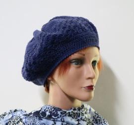 Damesbaret Sanne Z - indigoblauw