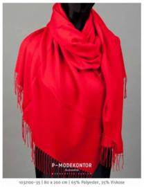 P-Modekontor pashmina shawl art.  1032100-35 - rood