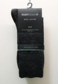 Marcmarcs herensok effen wool cotton art. 92100 - zwart
