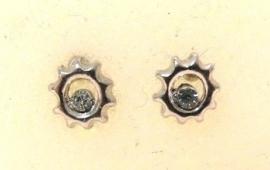 Oorbel steker zonnetje - zilverkleur