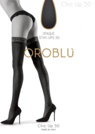 Oroblu opaque stay-ups Bas Chic Up 50 - zwart
