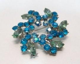 Broche Aster - aquablauw