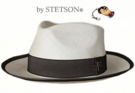 Stetson herenhoed Picayune art. 251208  - offwhite/donkergrijs