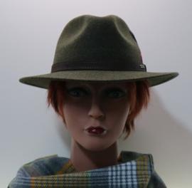 Stetson Woolfelt Traveller hoed art. 2598123 - mosgroen gemêleerd