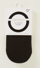 Oroblu All Colors Cotton No Show socks - zwart