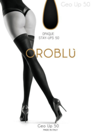 Oroblu opaque stay-ups Geo Up 50 - negre (donkerbruin)