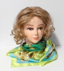 Luxe vierkante shawl art. 2900 - limegroen