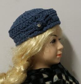 Meisjesdopje Emi - jeansblauw