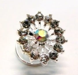 Curlie bloempje - zilverkleur