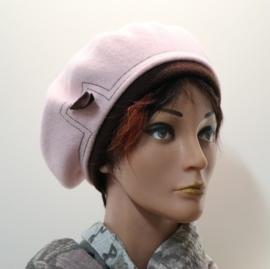 Damesbaret Firson - roze/donkerbruin